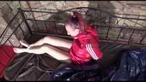 Get 2 Archive Videos with Mara enjoying Bondage in her Shiny Nylon Shorts 5