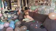 Mishel Full Custom 100 Balloons - Part 8 (Popping) 6